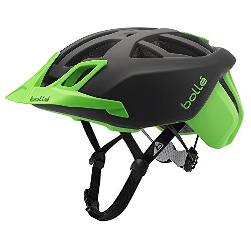bollé The One MTB Cascos Ciclismo, Unisex Adulto, Black/Flash Green, 54-58 Cm