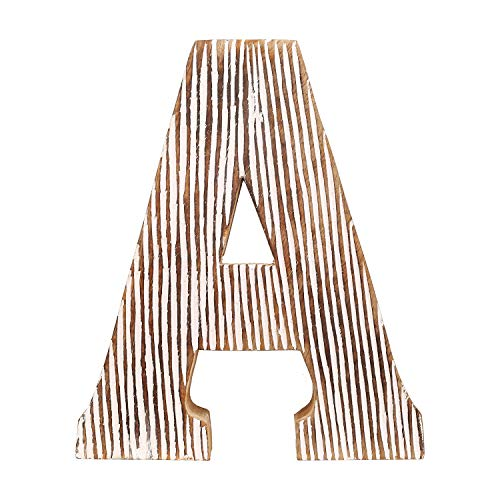 DECORINY Hand Made White Distressed Decorative Letters | Handmade by Skilled Artisans, A Beautiful and Elegant Accessory to Dress up Your Table and Wall