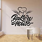 Bakery wall decal oven baking products kitchen interior vinyl window stickers 42 * 36cm