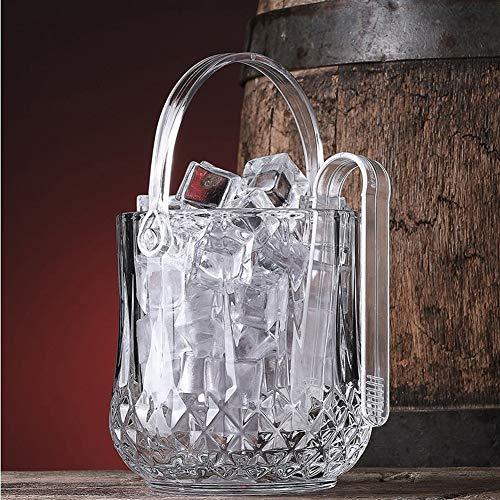 NanXi Vetro Portaghiaccio, Chiaro di Raffreddamento di Vino del cubo di Ghiaccio del Contenitore di Cristallo Champagne Bucket Bar PartyWare Benna Bevanda Bar Carrello,Clear