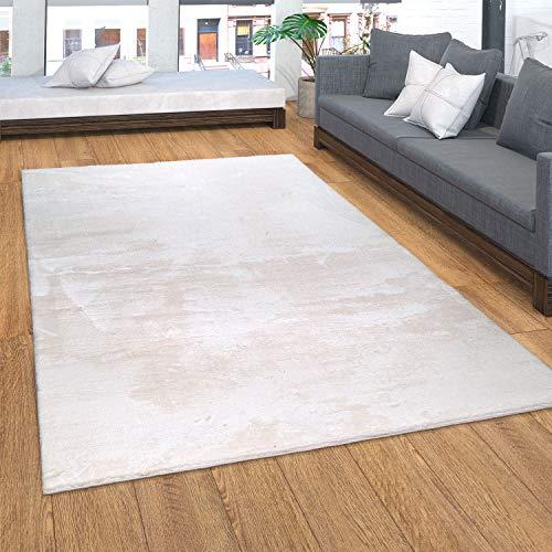 Paco Home Teppich, Kurzflor-Teppich Für Wohnzimmer, Soft, Weich, Waschbar, In Beige, Grösse:160x220 cm