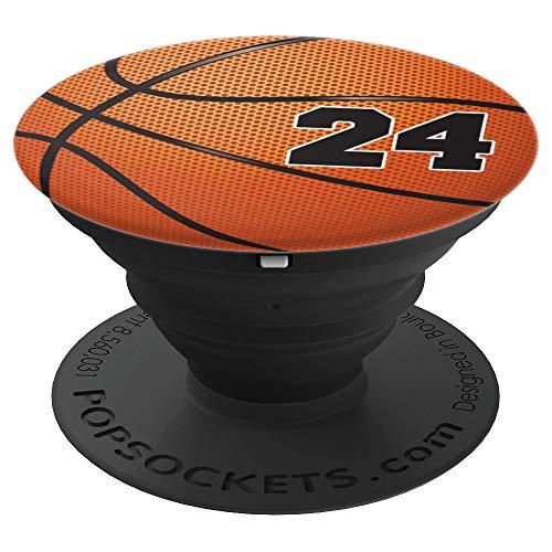 Basketball Fan #24 Trikot No 24 Basketball Pop Griffe Gift - PopSockets Ausziehbarer Sockel und Griff für Smartphones und Tablets