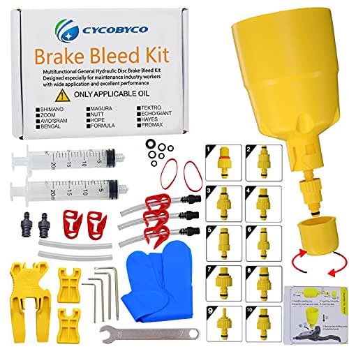 CYCOBYCO Brake Bleed Kit,Bicycle Hydraulic Disc Brake Mineral Oil Bleed Kit for Shimano,SRAM,AVID,MAGURA,TEKTRO,Hayes (Standard)