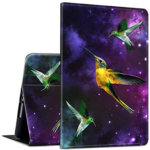 ROSSY - Funda para tablet Kindle Fire HD 8 y tablet Fire HD 8 Plus (10ª generación, lanzamiento de 2020), diseño delgado y ajustable con Smart Auto Wake/Sleep, colibrí en Galaxy