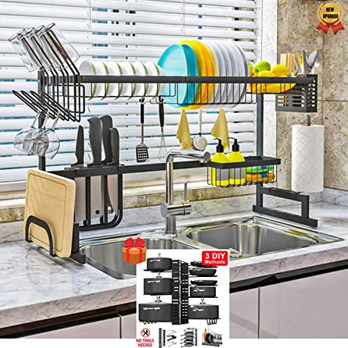 Topkitch Dish Drying Rack - Black, Fully Customizable,...
