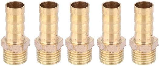 5 stycken kopparslanganslutning, röradapter änden av luftslanganslutning utvändig gänga G1 / 4 tum X Metrisk hak (10mm)
