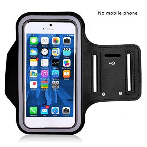 Rouku Schweißabsorbierendes Tuch Sport Armband für Handyhülle Handy Armbänder Halter auf Hand Handytasche