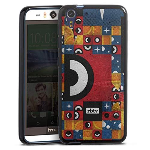 Silikon Hülle kompatibel mit HTC Desire Eye Hülle schwarz Handyhülle Rocket Beans TV YouTube Zocken