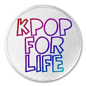 Kpop For Life - 3  Sew/Iron On Patch K Pop Korean Music Fan Fangirl