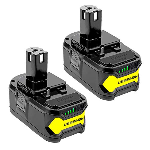 2 Pack P104 Battery for Ryobi, Wakitt 18V 4.0Ah Li-ion Replacement Battery for Ryobi ONE+ P102 P103 P108 P105 P107 P109 Tools