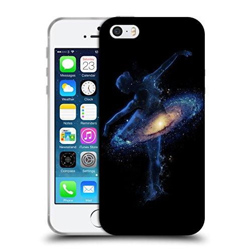 Head Case Designs Licenza Ufficiale Robert Farkas Danza Cosmica Spazio Cover in Morbido Gel Compatibile con Apple iPhone 5 / iPhone 5s / iPhone SE 2016