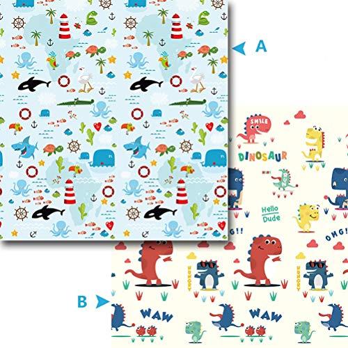 ZI LING SHOP- Tapis de jeu pour bébé Matelas pour bébé XPE pliable pour tapis de sol et tapis pour bébé blanket (Color : A)