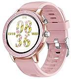 jpantech Smartwatch, Fitness Tracker Sport Ambanduhr Smart Watch mit Facebook, Twitter, Whatsapp, Skype-Benachrichtigung kompatibles IOS & Android für Herren Damen(Pink)