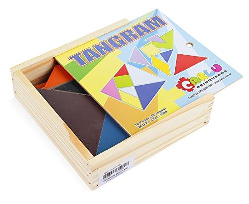 Carlu Brinquedos - Tangram Jogo Educativo, 4+ Anos, 70 Peças, Multicolorido, 1089