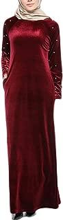 LongDressesforWomen Muslim Women Islamic Splice Pure Color Plus Size Middle East Long Dress