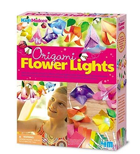 4M 404725 Origami Flower Lights Craft Kit, Multi-Colour