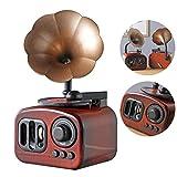 Retro phonograph decorazione per mobili, stile retrò, grammofono, decorazione per scrivania, corno...