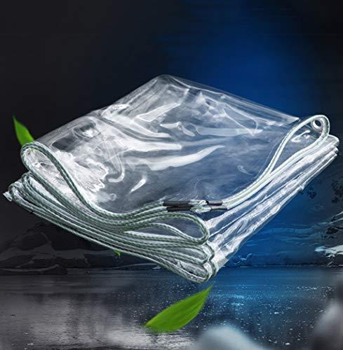 PVC transparent wasserdichte Plane Weiches Plastiktuch verdicken Balkon-Regenvorhang Sonnenschutzplane mit Metall Ösen 350gsm