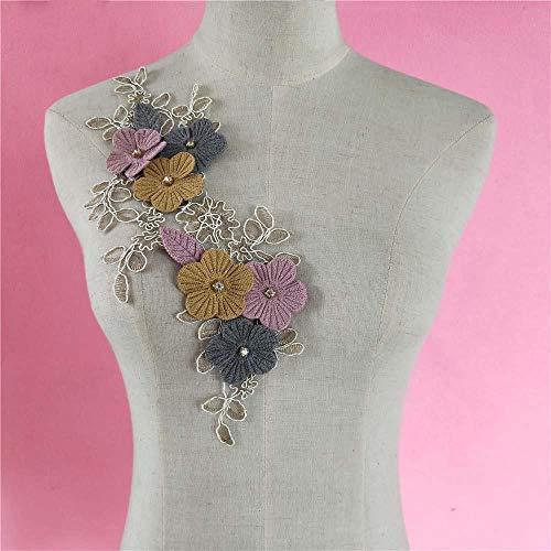 Hot koop stof trim applique motief kant kraag blouse diy naaien emboridery hals versieren kleding accessoires benodigdheden