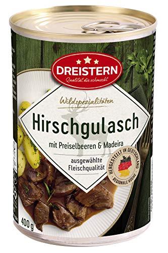 Dreistern Hirsch Edelgulasch, 400 g