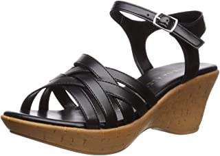 Athena Alexander Women's CASTLEWALK Wedge Sandal, black, 9 M US