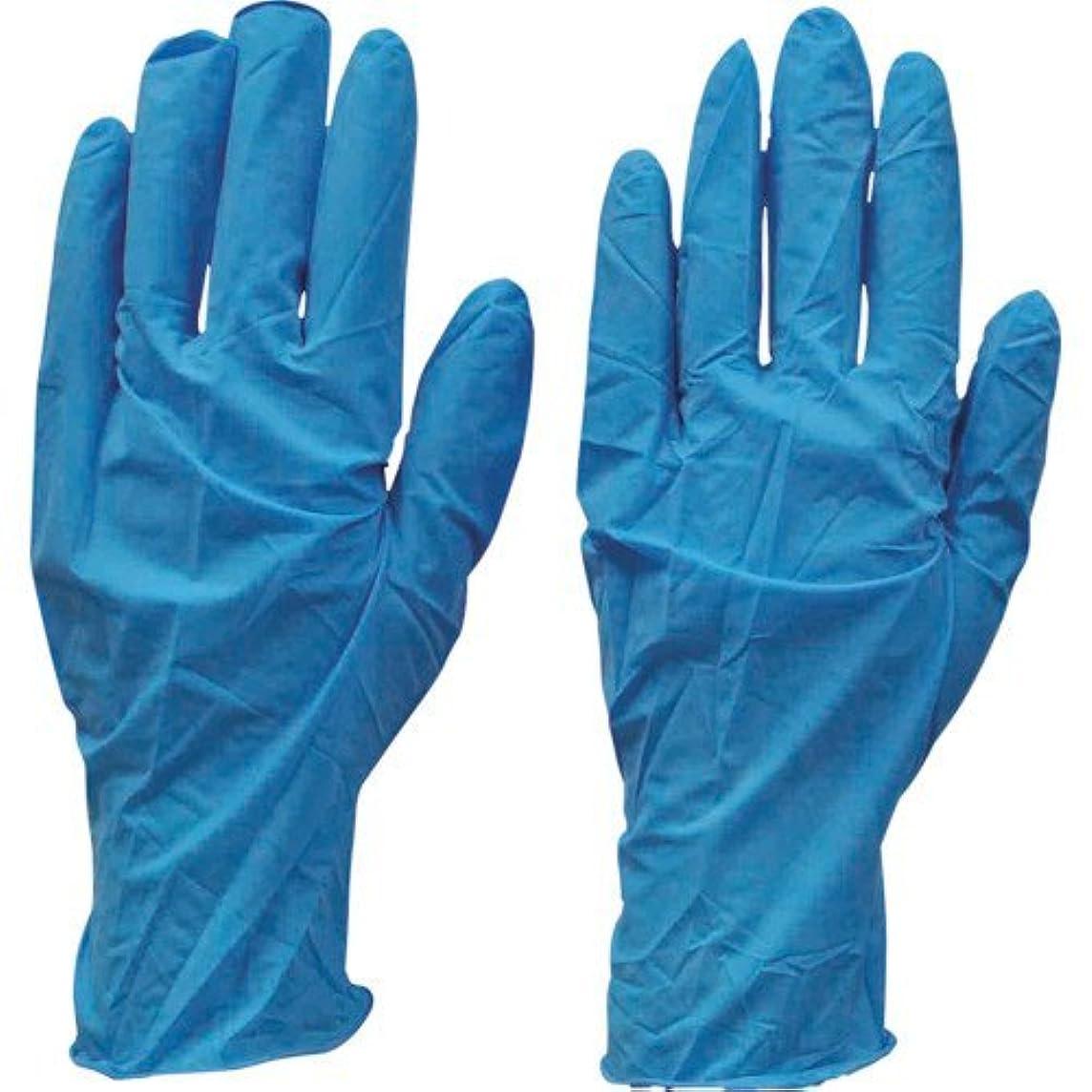 加入一掃するありふれたダンロップ N-211 天然ゴム極うす手袋100枚入 Lブルー N211LB