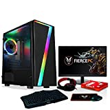 Fierce Invader RGB Gaming PC - Veloce 4.1GHz Hex-Core Intel Core i5 9400F, 240GB SSD, 1TB HDD, 16GB, NVIDIA GeForce RTX 2060 6GB, Tastiera (QWERTY), Mouse, 24-Pollici Monitor, Headset 1061348