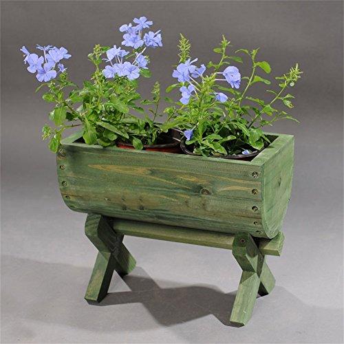 Vert Antiseptique En Bois Massif Mini Fleur Racks/Stand Antiseptique Mode Fleur Pot Présentoir Pour Balcon Salon Jardin