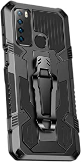 Grandcaser Case for Infinix Hot 9 Ultra-thin PC+TPU Luxury Shockproof Back Cover Armor Bumper Bracket Anti Fall Protective...