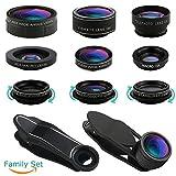 iPhone レンズ、携帯電話のレンズキット-超広角レンズ、スーパーマクロレンズ、魚眼レンズ、スターレンズ、CPL レンズ、万華鏡レンズ、望遠レンズ、広角レンズ、マクロレンズ、11 in 1