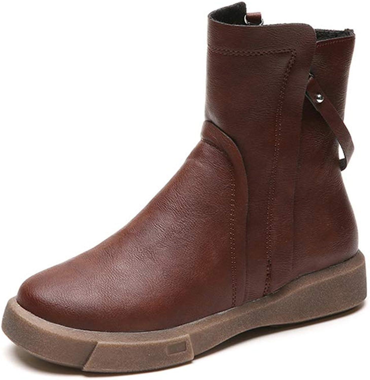 Women's Flat Boots Warm Waterproof Winter Boots Martin Boots