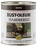 Rust-Oleum 239073 Hammered Metal Finish, Brown, 1-Quart (Packaging may vary)