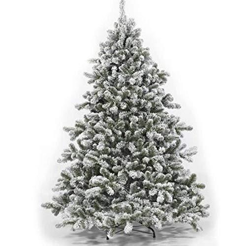 fg Albero di Natale innevato Abete Modello Alaska Rami Effetto Realistico Flock addobbo Tradizione Natalizia alberello Neve Artificiale Resistente folto (180cm - 718R)