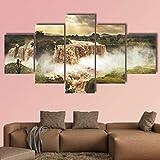 ZHANGGONG 5 Stücke Wandbilder Leinwand HD Drucke Bilder