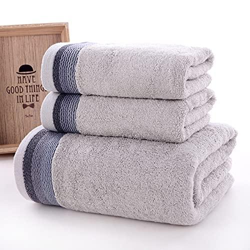 Juego de toallas de fibra de bambú 3 juegos de toallas de baño toalla de fibra de bambú toalla de baño adulto toalla de baño súper absorbente toalla de playa   toalla de baño  