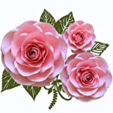 3 Sizes Large Medium Small Rose Paper Flower Template Kit for Paper Flower Set, Event Decor, Photo Booth,...