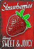 Blechschild, 20 x 30 cm, Erdbeeren, süß, saftige Kunst,