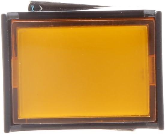 shamjina DC 12V Ranking TOP13 Momentary Cash special price Switch Locking Self - Yellow 4025mm