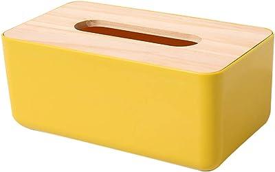 NUOLUX ティッシュケース おしゃれ 北欧 可愛い 横置き ティッシュボックス ティッシュペーパー 収納ケース 卓上収納ケース 木蓋付き