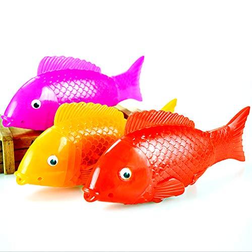 Hilai 1pc-Akku-betriebene Elektro-Schwimm Taucher schwimmendes Wasser aktiviert Clownfische Roboter Fische für Kinder (Farbe zufällig)