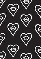igsticker ポスター ウォールステッカー シール式ステッカー 飾り 841×1189㎜ A0 写真 フォト 壁 インテリア おしゃれ 剥がせる wall sticker poster 010523 くちびる 白 黒