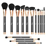 Qivange Makeup Brush Set 15PCS Makeup Brushes Sythetic Foundation Brush Powder Eyeshadow Brushes Face Brushes for Mothers Day Gift Art Party Fancy Make Up