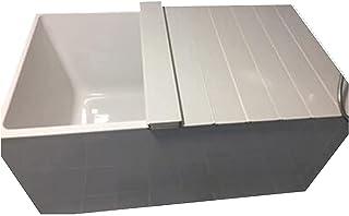 バスタブカバー折り畳み式防塵板、浴槽断熱カバー PVC. バスタブの折りたたみ式熱保存、バスタブカバーの貯蔵 (Size : 105x65x0.7cm)