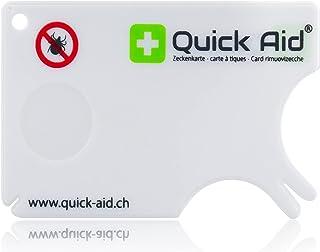 Quick Aid® Tekenkaart | De veiligste methode om teken te verwijderen | noodset in praktisch creditcardformaat | eenvoudig ...