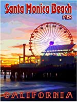 ERZAN大人のパズル木製パズル1500-サンタモニカビーチ埠頭カリフォルニアアメリカ合衆国旅行広告大人子供パズル
