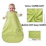 Baby-Wearable-Blanket-Minky-Dot-VelourInfant-Sleeping-SackSwaddle-Transition-Sleeping-Bag-18-Tog
