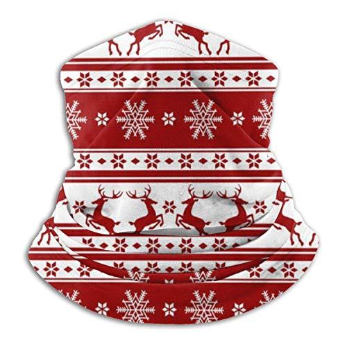WlQshop Renne de Noël hiver polaire Tour de cou Tour de cou mince Cagoule élastique souple Bandana Bandeau sans coutures en plein air