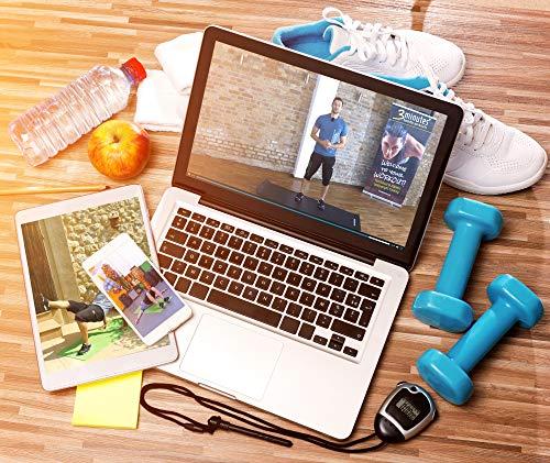 POWRX - Tapis de Gymnastique Anti-DÉRAPANT sans phtalates/Tapis de Sol – Pilates / 190 x 60, 80 ou 100 x 1,5 cm I Sangle de Transport + Sac + Affiche d´entraînement/différents Couleurs