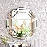 HONYGE LXGANG Espejo de Pared, Cristal Moderno Espejo de baño, Escritorio de la Pared del Arte de la Pared de Espejo Espejo de Pared