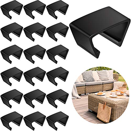 20 Pieces Outdoor Furniture Clips Patio Sofa Clips Rattan Furniture Clamps Wicker Chair Fasteners Connect The Sectional or Module Outdoor Couch Patio Furniture